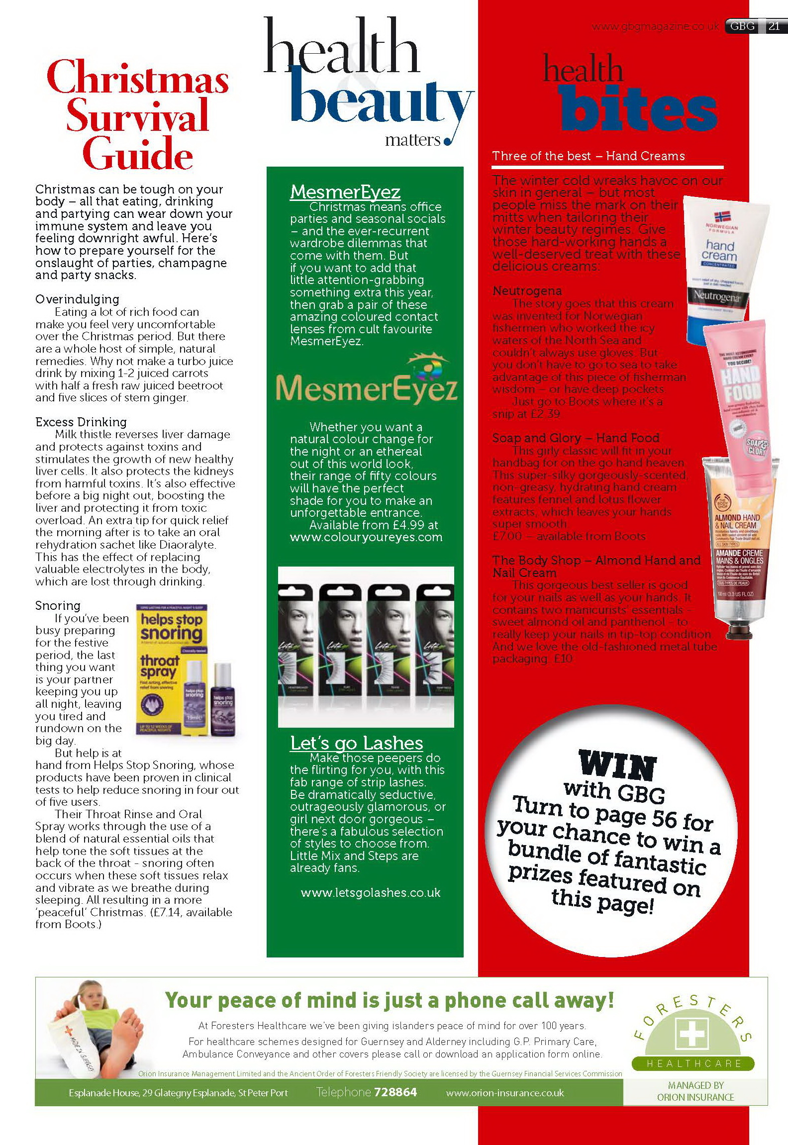 Helps Stop Snoring in GBG Magazine